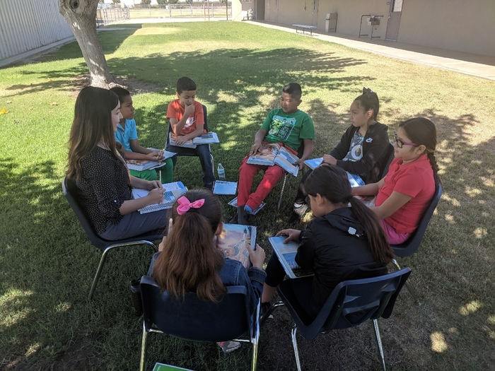 Miss Gonzalez with small group